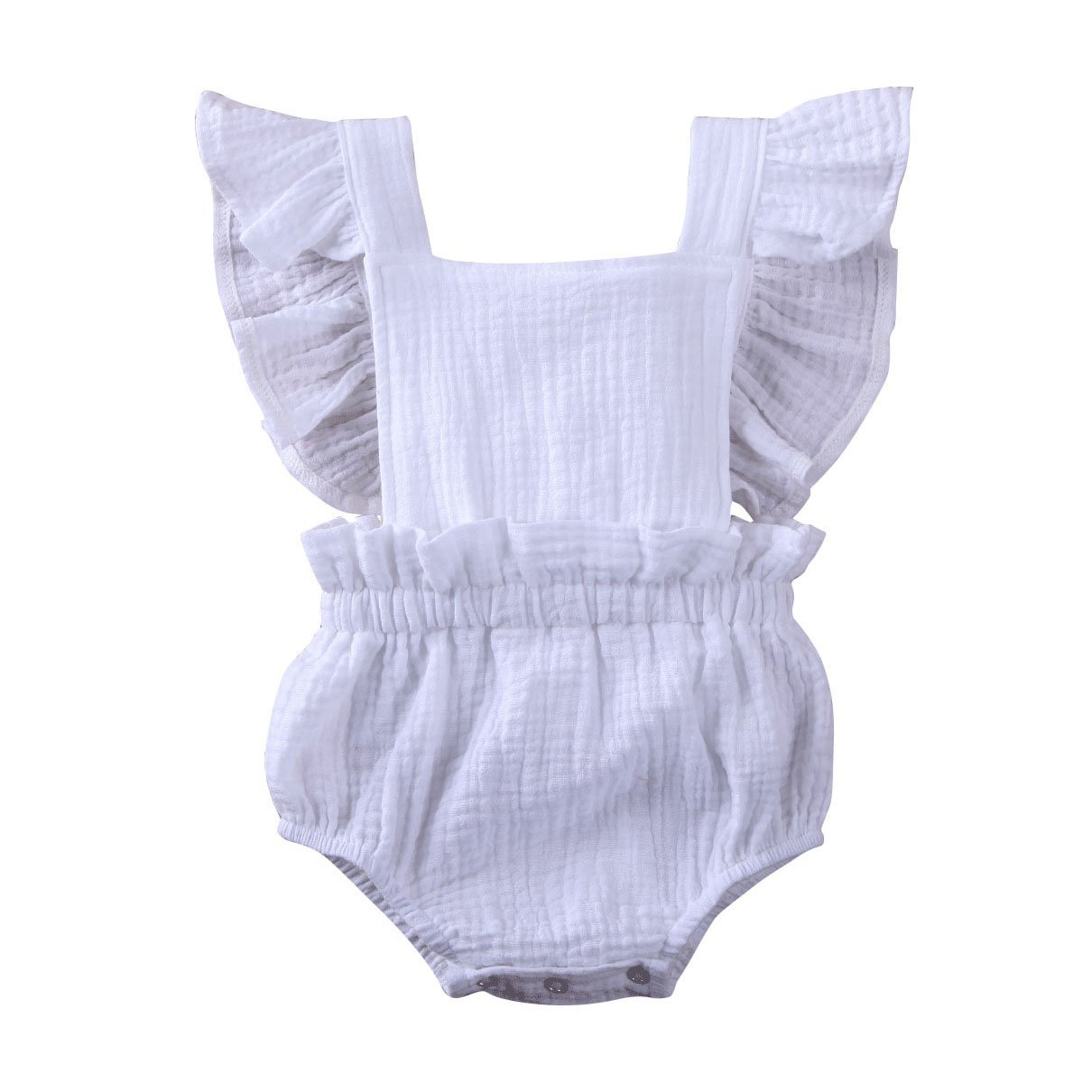 Solid Flutter Romper - The Trendy Toddlers