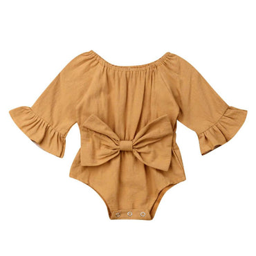 Long Sleeve Bow Romper - The Trendy Toddlers