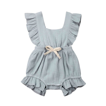 Ruffled Solid Romper