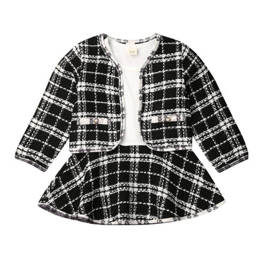 Plaid Blazer Set