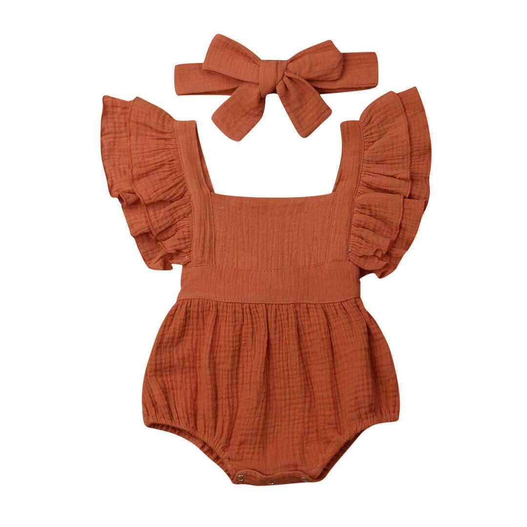 Solid Ruffles Romper - The Trendy Toddlers