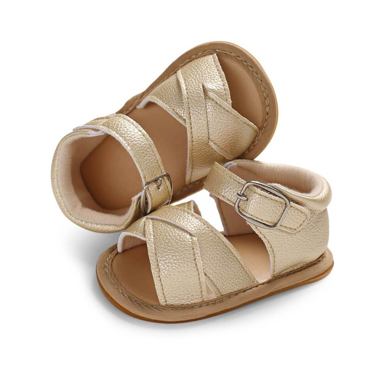 Leather Crossover Sandals - The Trendy Toddlers
