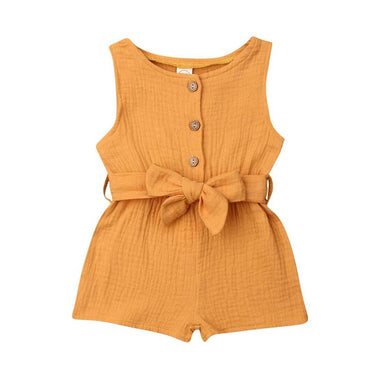 Bow Belt Romper - The Trendy Toddlers