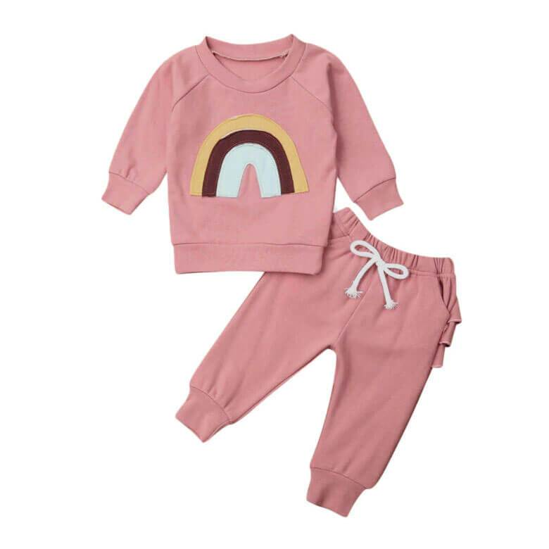Rainbow Pink Set - The Trendy Toddlers