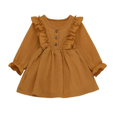 Long Sleeve Ruffled Dress - The Trendy Toddlers