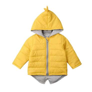 Yellow Dino Zipper Jacket