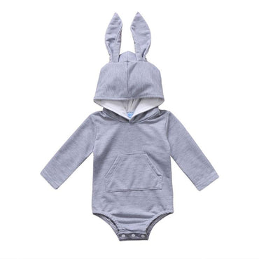 Gray Bunny Ears Jumpsuit