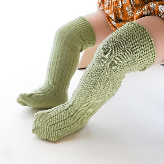 Ribbed Thigh High Socks