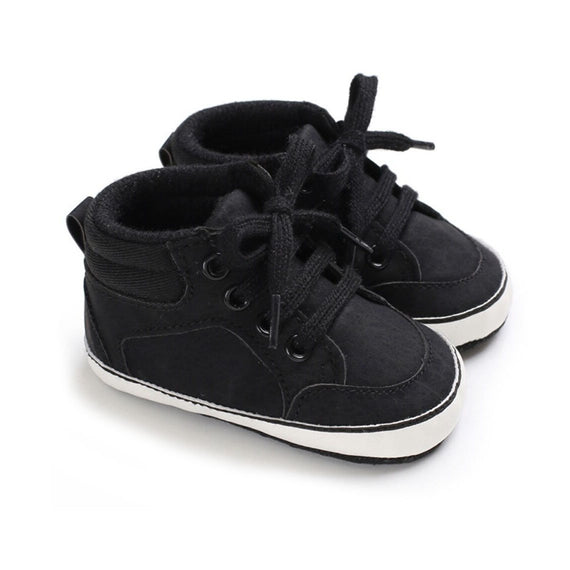 Black Anti Slip Leather Shoes