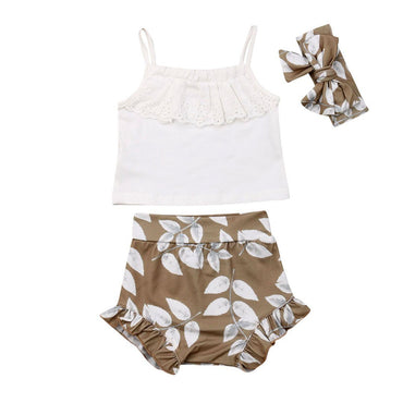 White Lace Leaves Set - The Trendy Toddlers
