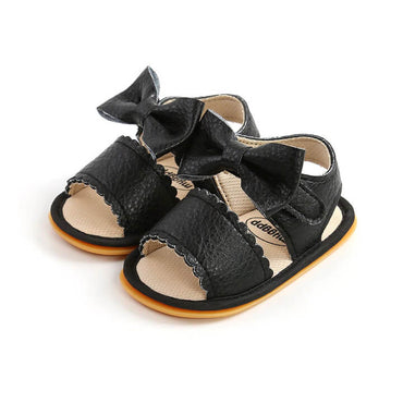 Solid Bow Sandals
