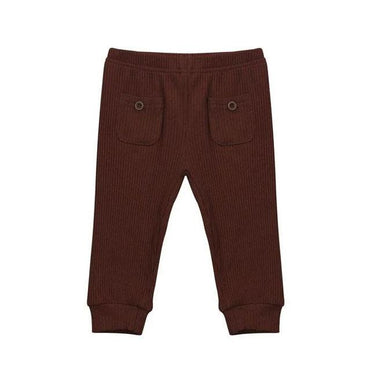 Burgundy Ribbed Pants