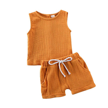 Basic Linen Summer Set - The Trendy Toddlers