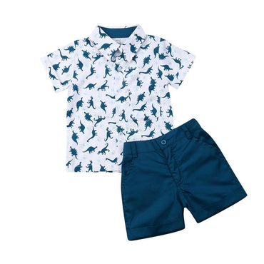 Navy Dinosaurs Set - The Trendy Toddlers