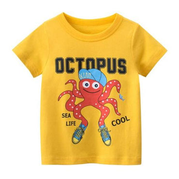 Yellow Octopus Tee