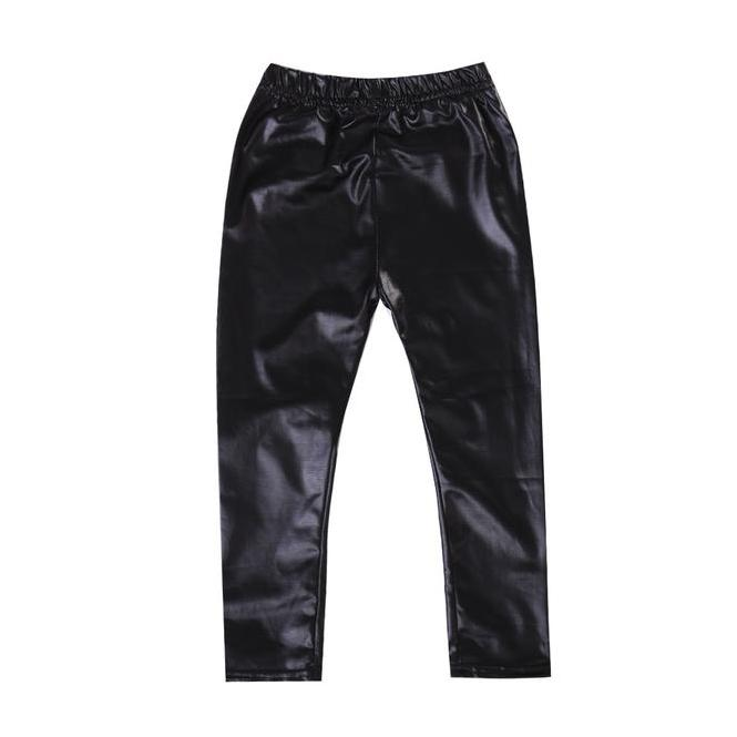 Black Leather Leggings - The Trendy Toddlers