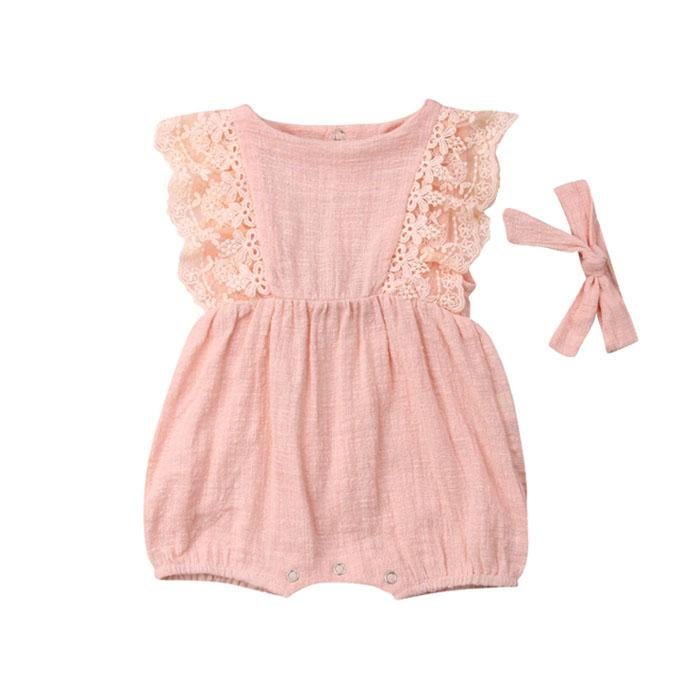 Vintage Pink Romper - The Trendy Toddlers