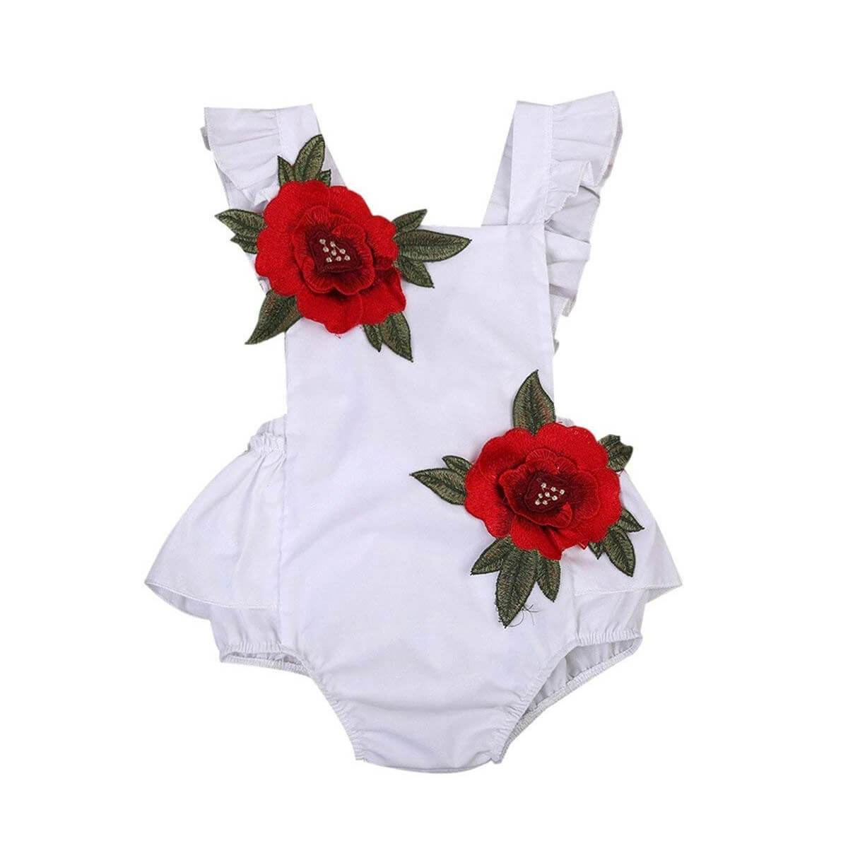 Floral Backless Romper - The Trendy Toddlers
