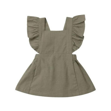Green Ruffle Solid Dress