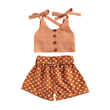 Heart Shorts Set