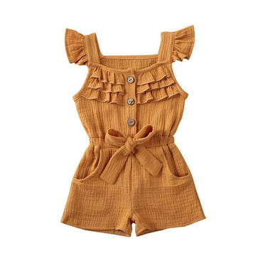 Fly Sleeve Solid Romper