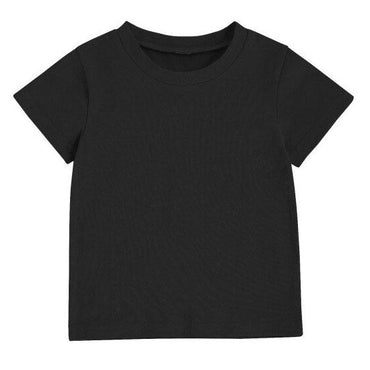 Black Solid Tee