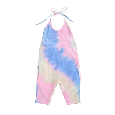 Backless Tie Dye Jumpsuit