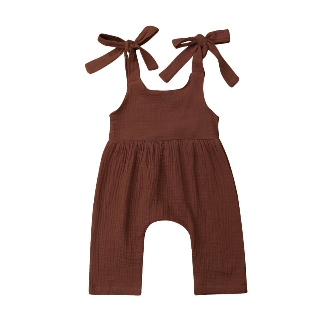 Solid Linen Jumpsuit - The Trendy Toddlers