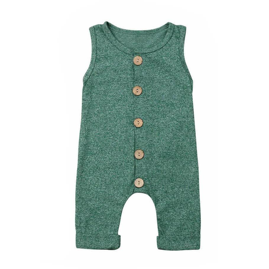 Sleeveless Buttoned Jumpsuit - The Trendy Toddlers