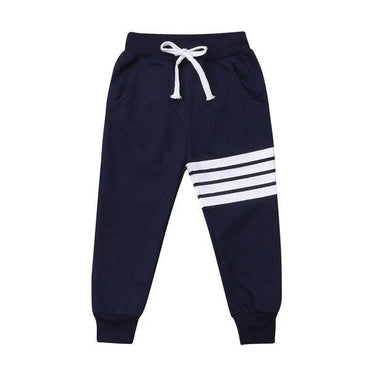 Dark Blue Striped Pants