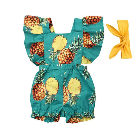 Pineapple Romper - The Trendy Toddlers