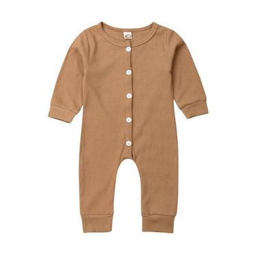 Long Sleeve Solid Jumpsuit - The Trendy Toddlers