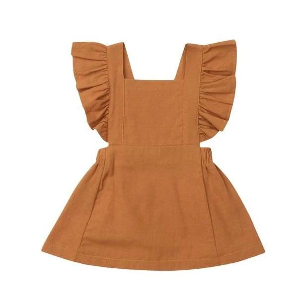 Mustard Ruffle Solid Dress