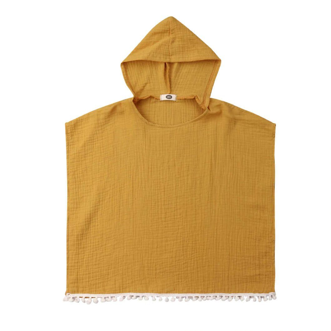 Solid Hooded Cover-Up