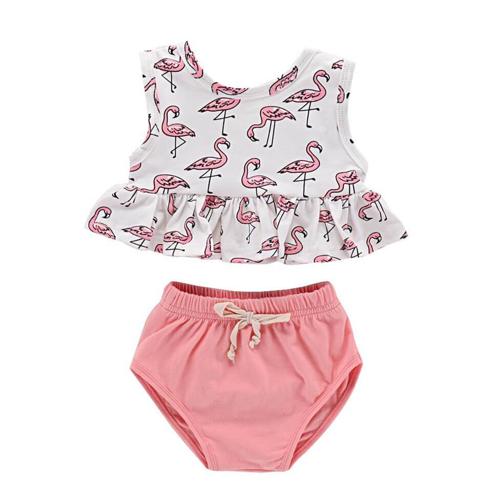 Pink Flamingo Set - The Trendy Toddlers