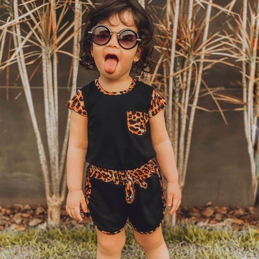 Leopard Black Set - The Trendy Toddlers