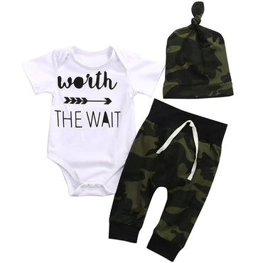 Worth the Wait Camo Set - The Trendy Toddlers