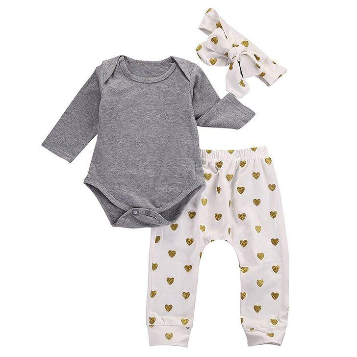 Gray Hearts Set - The Trendy Toddlers