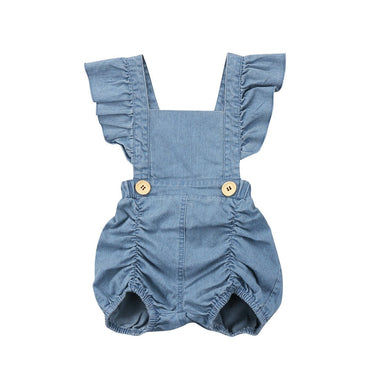 Denim One Piece Romper - The Trendy Toddlers