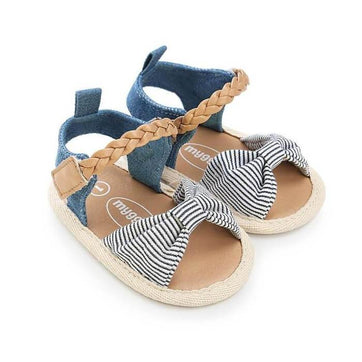 Striped Bow Sandals
