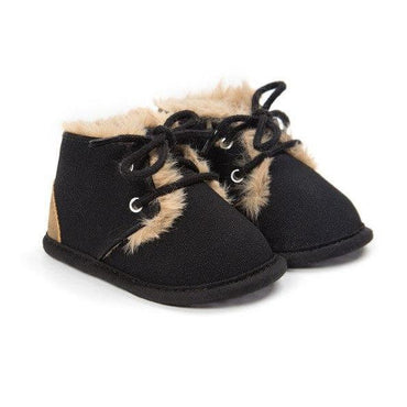 Black Faux Fur Boots - The Trendy Toddlers