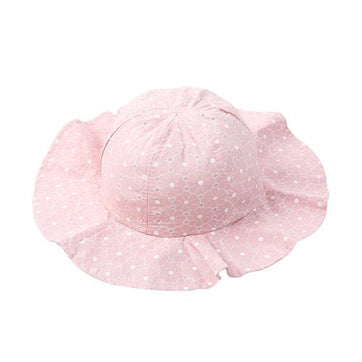 Girls Pink Dotted Hat - The Trendy Toddlers