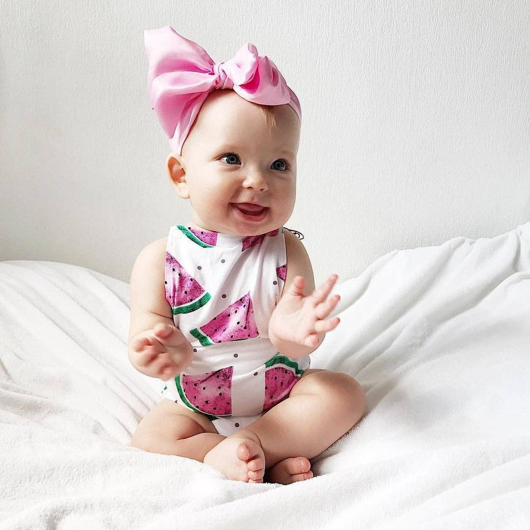 Sleeveless Watermelon Romper - The Trendy Toddlers
