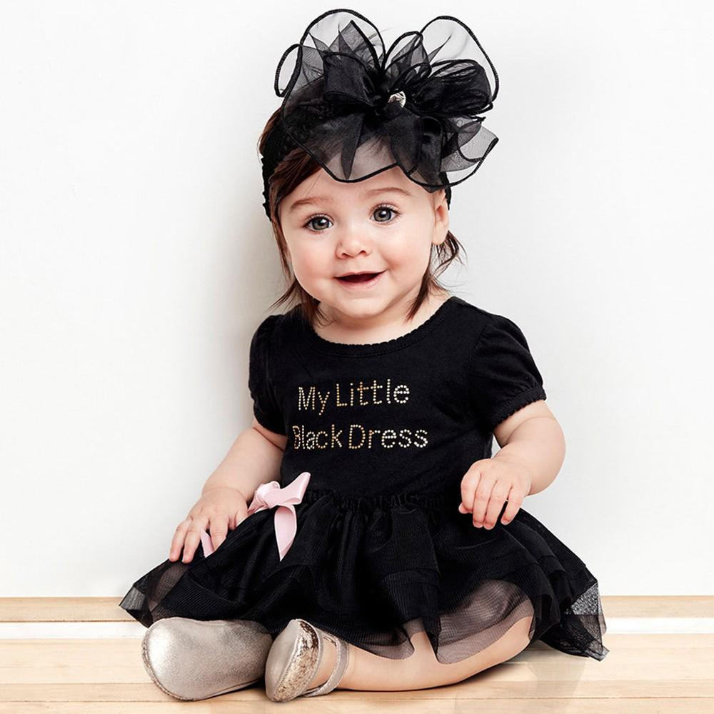 Black Birthday Romper - The Trendy Toddlers