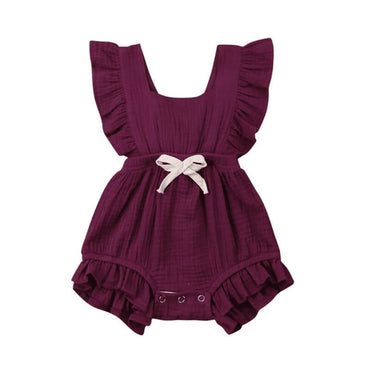 Ruffle Solid Romper - The Trendy Toddlers