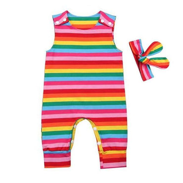 Colorful Striped Jumpsuit - The Trendy Toddlers