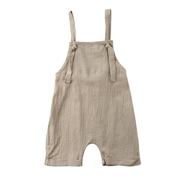 Knot Linen Romper - The Trendy Toddlers