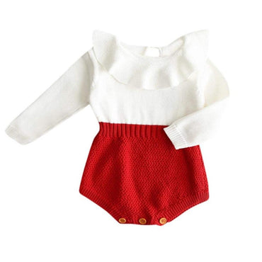 Red Knitted Romper - The Trendy Toddlers