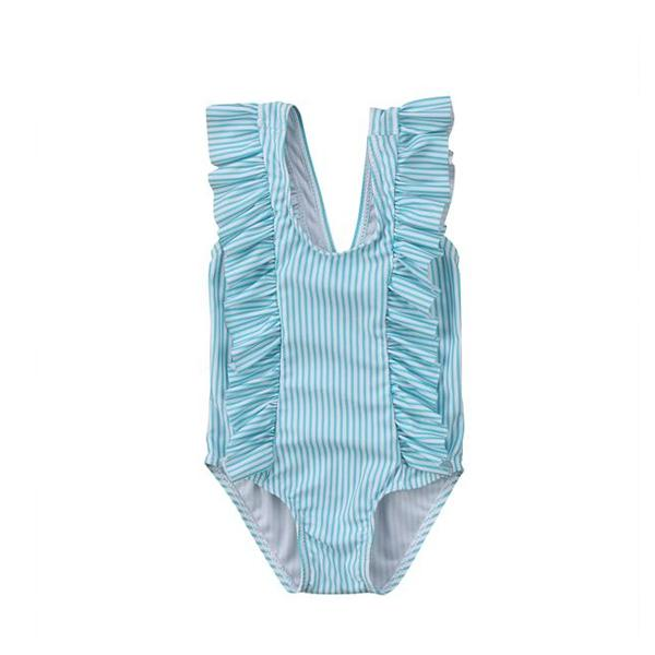 Ruffle Striped Swimsuit
