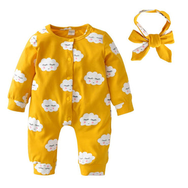 Yellow Cloud Jumpsuit - The Trendy Toddlers